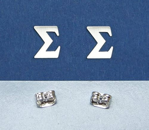 Sigma greek letter earrings