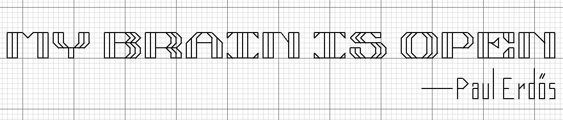 Paul Erdos quote cross stitch bookmark pattern