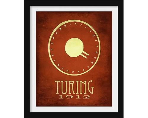 Poster honoring Alan Turing
