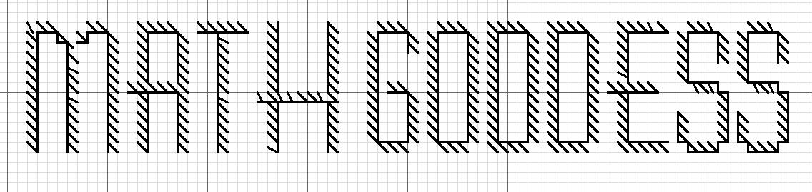 Math Goddess Cross Stitch Bookmark