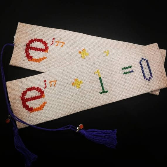 Pride Euler Idendity Cross Stitch Bookmark