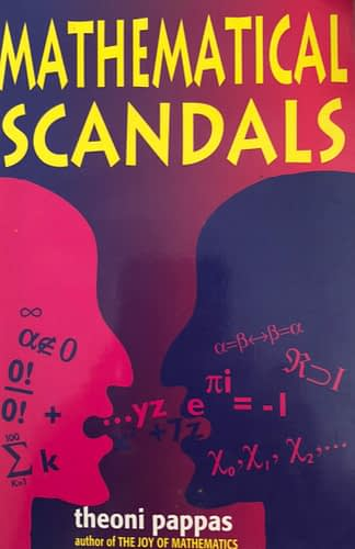 Cover for a book on mathematical scandals