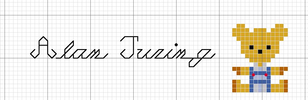 Porgy mathematical cross stitch pattern