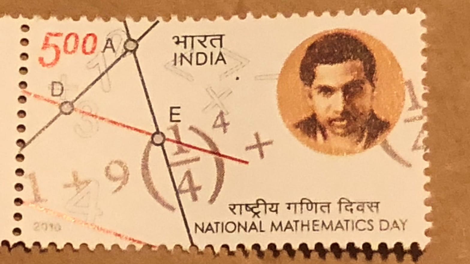 Srinivasa Ramanujan Stamp