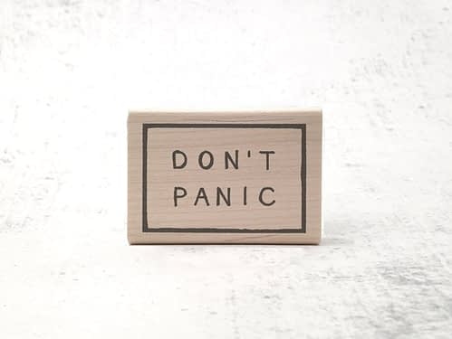 Don't Panic Stamp from Hitchikers Guide to the Galaxy