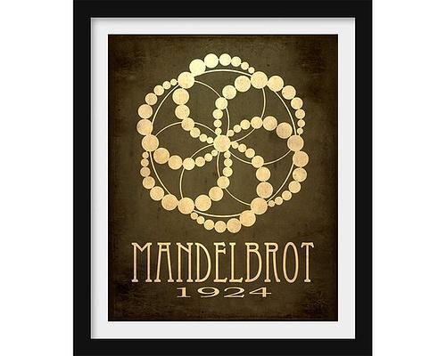 Science poster honoring Benoit Mandelbrot