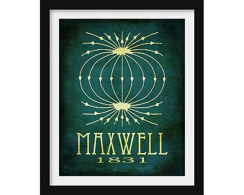 Poster honoring James Maxwell