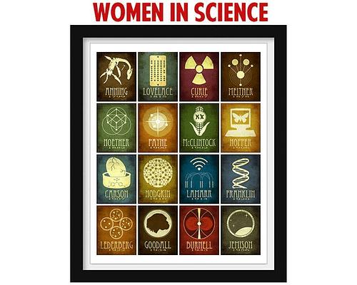 Women in Science poster by Megan Lee