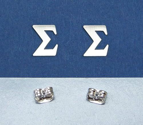 Sigma greek letter earrings